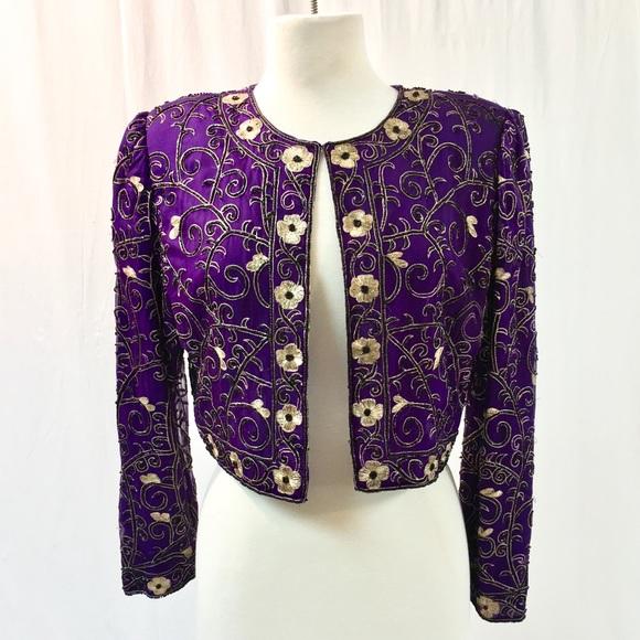 865eb1d8e00 Laurence Kazar Jackets   Blazers - Laurence Kazar Vintage Beaded Jacket